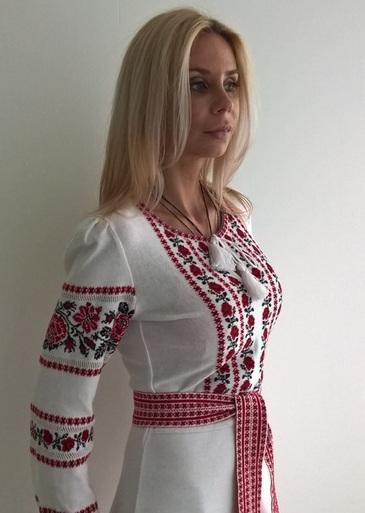 Плаття трикотажне біле Ніжність 276b970e07617