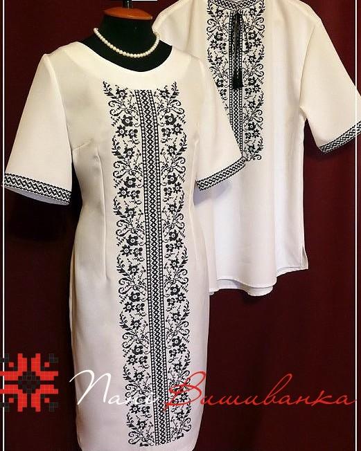 Плаття Святкове чорне на білому   Вишиванки d79e80aa4cc51