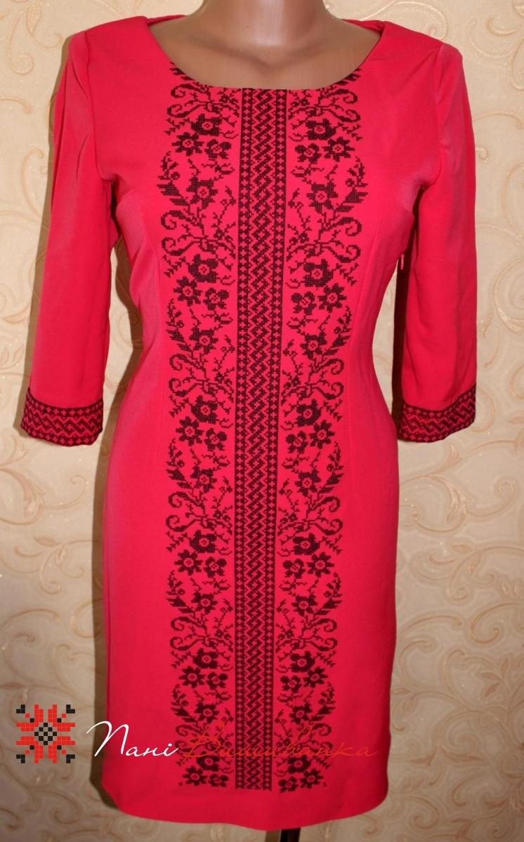 Плаття Святкове чорне на червоному   Вишиванки 1cb82124cb703