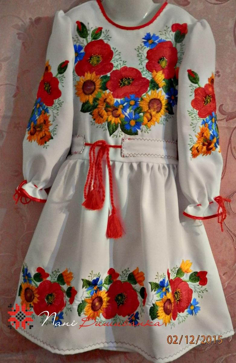 Плаття Польові квіти   Вишиванки дитячі   Дівчатка   Плаття ... f93eab979b1e9