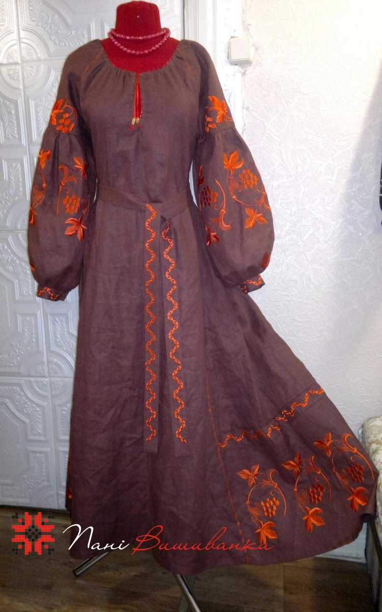 Плаття в стилі БОХО коричневий 004 eaffcf0b901db