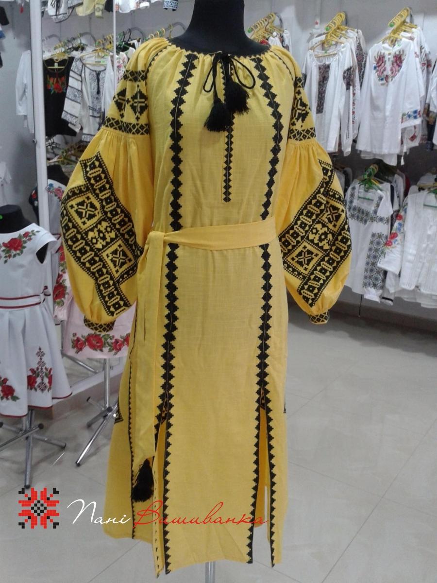 Плаття в стилі БОХО Геометрія жовте 018 74345a9c585d3