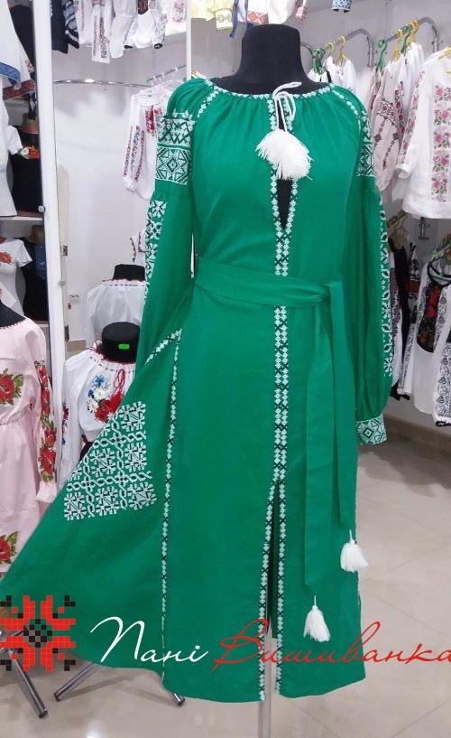 Плаття в стилі БОХО Геометрія зелене 021 3670d8991f10d