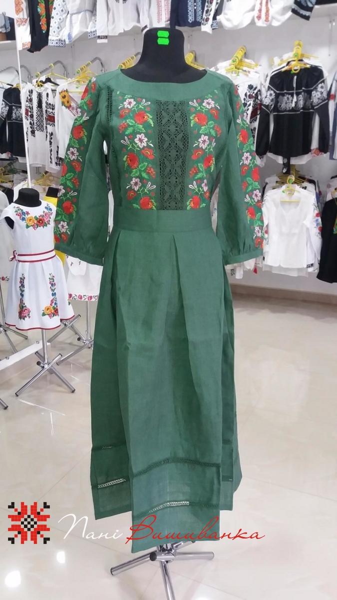 Плаття в підлогу Зелене 025 2dcfd72cbb7fd