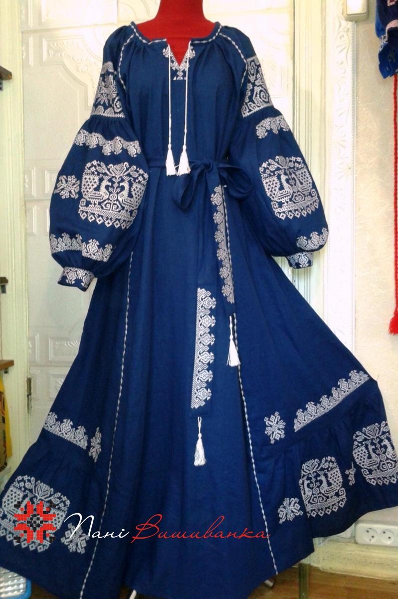 14a91824a940f8 Плаття в стилі Бохо синє 016 / Вишиванки, плаття жіночі / Плаття ...