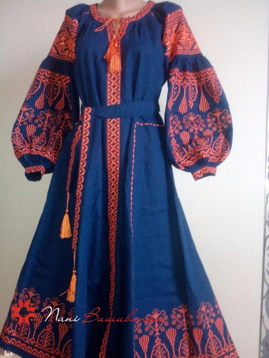 Плаття в стилі Бохо оранж 11ba28113d486