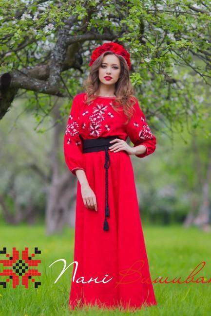 Плаття вишите червоне - 261 6757cd75e70a5